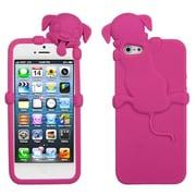 Insten® Dog Peeking Pets Skin Cover F/iPhone 5/5S, Hot-Pink