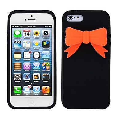 Insten® Bow Skin Cover F/iPhone 5/5S, Black