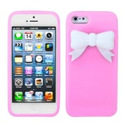 Insten® Bow Skin Cover F/iPhone 5/5S, Pink