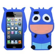 Insten® Pastel Skin Cover F/iPhone 5/5S, Dark Blue Cow
