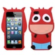 Insten® Pastel Skin Cover F/iPhone 5/5S, Red Cow