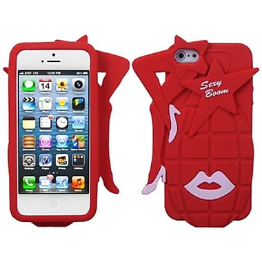 Insten® Pastel Skin Cover F/iPhone 5/5S, Red Sexy Boom