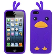 Insten® Pastel Skin Cover F/iPhone 5/5S, Electric Purple Chick