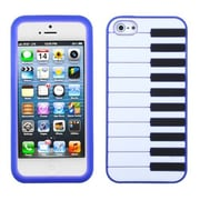 Insten® Pastel Skin Cover F/iPhone 5/5S, Dark Blue Piano