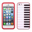 Insten® Pastel Skin Cover F/iPhone 5/5S, Red Piano
