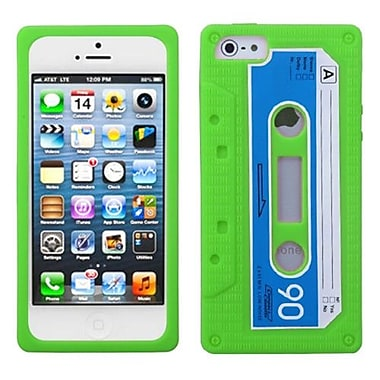 Insten® Retro Cassette Skin Cover F/iPhone 5/5S, Green