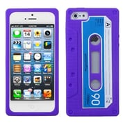 Insten® Retro Cassette Skin Cover F/iPhone 5/5S, Electric Purple