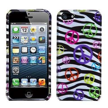 Insten® Phone Protector Cover F/iPhone 5/5S, Peace and Zebras (2D Silver)