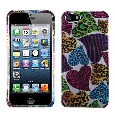 Insten® Phone Protector Cover F/iPhone 5/5S, Jungle Hearts (2D Silver)
