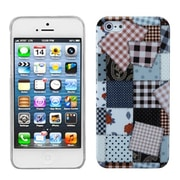 Insten® Phone Back Protector Cover F/iPhone 5/5S, Cloth Puzzle