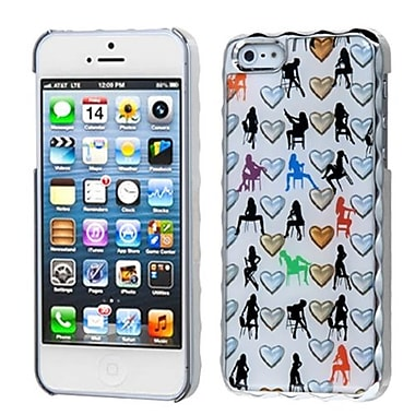 Insten® Alloy Executive Back Protector Cover F/iPhone 5/5S, Silver Plating Elegant Woman