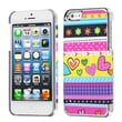 Insten® MyDual Back Protector Cover F/iPhone 5/5S, Sketched Bars/Silver Plating