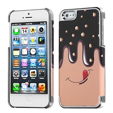 Insten® MyDual Back Protector Cover F/iPhone 5/5S, Fudge Delight/Silver Plating