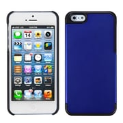 Insten® MyDual Rubberized Back Protector Cover F/iPhone 5/5S, Titanium Dark Blue/Black
