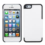 Insten® MyDual Rubberized Back Protector Cover F/iPhone 5/5S, Ivory White/Black