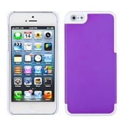 Insten® MyDual Rubberized Back Protector Cover F/iPhone 5/5S, Grape/Ivory White