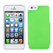 Insten® MyDual Rubberized Back Protector Cover F/iPhone 5/5S, Dark Green/Ivory White