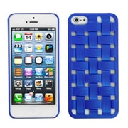 Insten® Rubberized Weave Texture Back Protector Cover F/iPhone 5/5S, Dark Blue