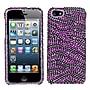 Insten® Diamante Protector Cover F/iPhone 5/5S, Purple/Black