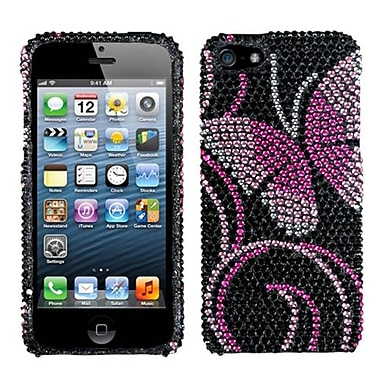 Insten® Diamante Phone Protector Cover F/iPhone 5/5S, Fairyland Butterfly