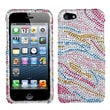 Insten® Diamante Phone Protector Cover F/iPhone 5/5S, Colorful Zebra