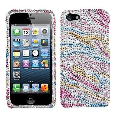 Insten® Diamante Phone Protector Cover F/iPhone 5/5S, Colorful Zebra