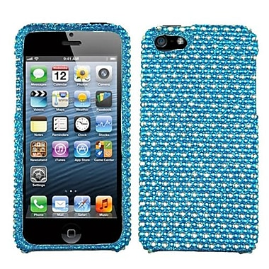 Insten® Diamante Phone Protector Cover F/iPhone 5/5S, Blue/White Dots