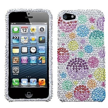 Insten® Diamante Phone Protector Cover F/iPhone 5/5S, Rainbow Bigger Bubbles