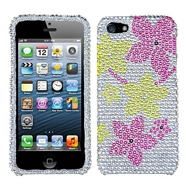 Insten® Diamante Phone Protector Cover F/iPhone 5/5S, Hibiscus Flower Romance