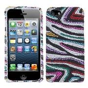 Insten® Diamante Phone Protector Cover F/iPhone 5/5S, Retro Zebra Skin