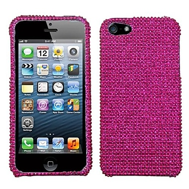 Insten® Diamante Protector Cover F/iPhone 5/5S, Hot-Pink