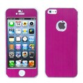 Insten® Brushed Metal Decal Shield Phone Protector Covers F/iPhone 5/5S