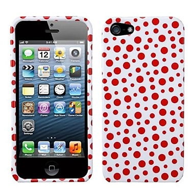 Insten® Phone Protector Cover F/iPhone 5/5S, Red Mixed Polka Dots