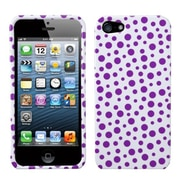 Insten® Phone Protector Cover F/iPhone 5/5S, Purple Mixed Polka Dots