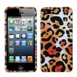 Insten® Phone Protector Cover F/iPhone 5/5S, Orange Cheetah Skin