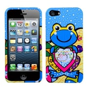 Insten® Phone Protector Cover F/iPhone 5/5S, Blue Lotus Frog