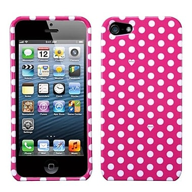 Insten® Phone Protector Cover F/iPhone 5/5S, Pink/White Dots