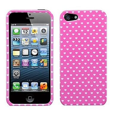 Insten® Phone Protector Cover F/iPhone 5/5S, Pink Vintage Heart Dots