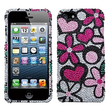 Insten® Premium Diamante Protector Cover F/iPhone 5/5S, Fantastic Flowers