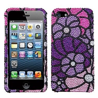Insten® Premium Diamante Protector Cover F/iPhone 5/5S, Purple Spring Garden