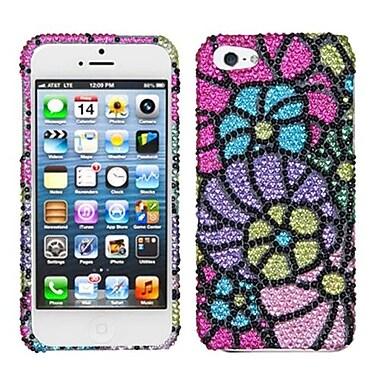 Insten® Gardenr Premium Diamante Phone Protector Cover F/iPhone 5/5S, Colorful Spring