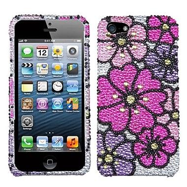 Insten® Gardenr Premium Diamante Phone Protector Cover F/iPhone 5/5S, Pink Carnation