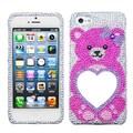 Insten® Mirror Premium Diamante Protector Covers F/iPhone 5/5S