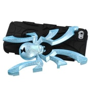 Insten® Spiderbite Hybrid Protector Cover F/iPhone 5/5S, Baby Blue Plating Matte Wrinkle/Black