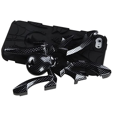 Insten® Spiderbite Hybrid Protector Cover F/iPhone 5/5S, Carbon Fiber/Black