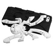 Insten® Spiderbite Hybrid Protector Cover F/iPhone 5/5S, d Lines White/Black