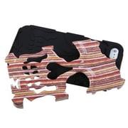 Insten® Skullcap Hybrid Protector Cover F/iPhone 5/5S, Vertical Stripes/Black