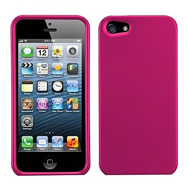 Insten® Phone Protector Cover F/iPhone 5/5S, Titanium Solid Hot-Pink