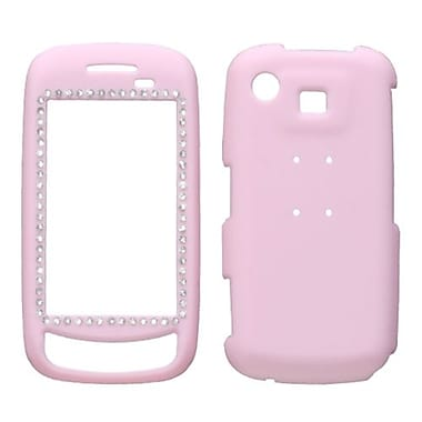 Insten® Rubberized Diamond Protector Case For Samsung A877 (Impression), Pink