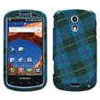 Insten® Phone Protector Case For Samsung D700 (Epic 4G), Blue Plaid Weave